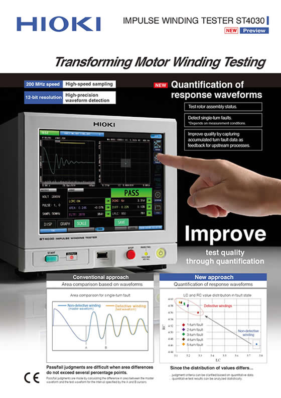 HIOKI Launches the Impulse Winding Tester ST4030